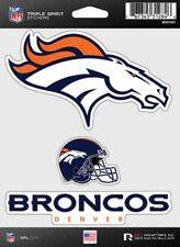 Denver Broncos Triple Spirit 3 Decals Auto Tumbler Laptop Cut to Shape