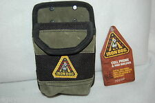 CLIP ON POUCH For Utility Tool Belt CELL PHONE & NOTE PAD HOLDER Suede Leather