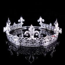 Herrenkaiser Mittelalterliches Fleur De Lis Silber König Krone 22cm Durchmesser
