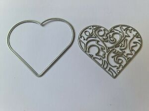 Set of 2 Large Heart Die Cutters  Lightly Used