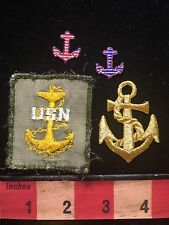 Patch Lot Of 4 Ship Anchors ~ 1 Is Legit US NAVY ~ Other 3 Newer Appliqués 67WS