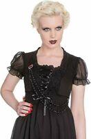 Spin Doctor Zylphia Top bustier Size M black goth