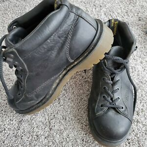 MENS DR MARTENS ENGLAND 8287 BLACK LEATHER CHUKKA ANKLE BOOTS US 10