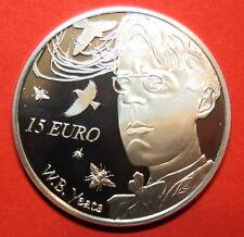 IRELAND 15  EURO SILVER PROOF  2015.WILLIAM BUTLER YEATS. POET.