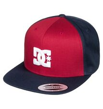 DC SHOES MENS BASEBALL CAP.NEW SNAPPY FLAT PEAK RED/NAVY SNAPBACK HAT 7W 58 RRKO