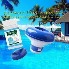 100Pc Pool Cleaning Floating Chlorine Tablets+Hot Tub Chemical Dispenser Clean~