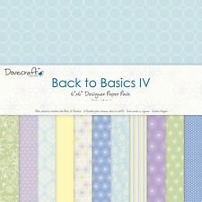 """Dovecraft Back to Basics IV Sample Paper Pack (12 sheets x 6x6"""" size)"""