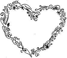 Corazón floral (S) - se aferran sello de goma montado-astutos Sellos RM102D