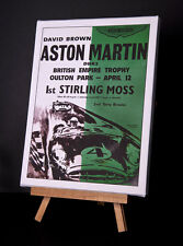ASTON MARTIN/MOSS  (G) CANVAS PRINT STRETCHED AND FRAMED