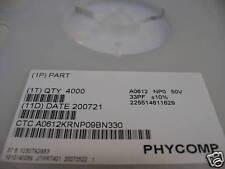 Bobine Réseau de Condensateurs 1206 33pF 10% CMS SMD Phycomp (Array capacitor)