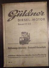 Güldner Dieselmotor d215 manuale di istruzioni + et-elenco