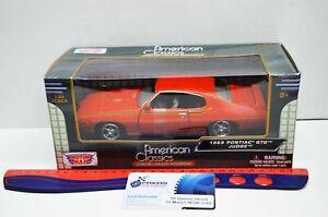 1:24 Scale 1969 Pontiac GTO Judge Red American Classics #73200AC Motor Max