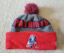 New Era NFL New England Patriots Football Stocking Knit Hat Retro Beanie Pom