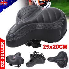 Wide Big Bum Bike Bicycle Saddle Seat Gel Cruiser Extra Comfort Soft Sporty Pad