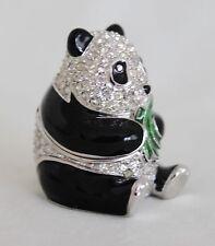 ESTEE LAUDER Panda Jeweled Pleasures Solid Perfume Jeweled Compact 1997 Rare