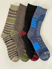 NEW Columbia Men 4 Pair Crew Socks Heavyweight Cushion Wool Warm Ski Brown  6-12