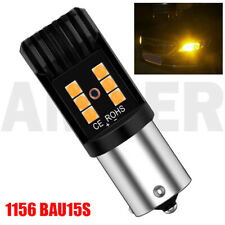 2X 1156 BAU15S LED Yellow Car Brake Reverse Tail Light Daytime Running Stop Bulb