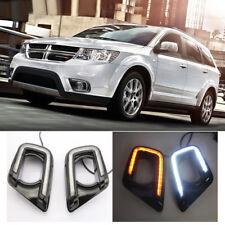 LED Daytime Running Lights For Dodge Journey 2015-17 Yellow Turning Signal Lamp