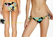 TRINA TURK $76 Beautiful!! Floral *Tahitian* Strings Tie-Side Bikini Bottom  8