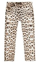 ROBERTO CAVALLI ITALY GIRLS BROWN LEOPARD JEANS PANTS NWT$324~ 9 / 146