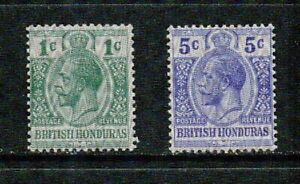 BRITISH HONDURAS-1915- KING GEORGE V MOIRE OVPT - VF**