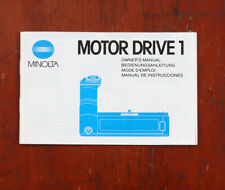 MINOLTA MOTOR DRIVE 1 INSTRUCTION BOOK/212922