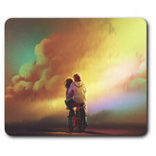 Computer Mouse Mat - Bicycle Couple Girl Boy Valentine Office Gift #14019