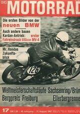 M6717 + Fahrbericht MV AGUSTA 600 ccm Vierzylinder + Das MOTORRAD 17/1967
