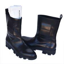 BALENCIAGA New sz 45 - 12 Auth Designer Mens Leather Shoes Boots black $1235