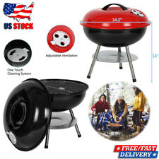 """New listing Outdoor 14"""" Portable Bbq Grill Charcoal Barbecue Pit Patio Backyard Meat Cooker"""