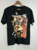 WWE Black T Shirt 2007 World Wrestling Entertainment No size Fits Like Small