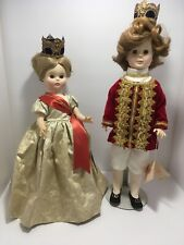 Royal House of Dolls Porcelain 1984 Prince & Princess A Royal Doll Metal Crowns