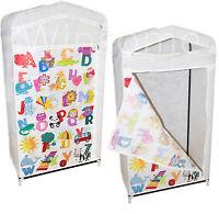 Kids Alphabets Wardrobe Foldable Hanging Clothes Shoes Storage Toys Shelves Unit