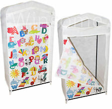 Kids Alphabets Wardrobe Foldable Hanging Clothes Shoes Storage Toys Shelves Unit