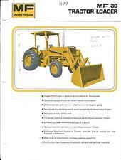 Equipment Brochure - Massey Ferguson - Mf 30 - Tractor Loader - c1974 (E3688)