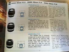 ORIGINAL OLYMPUS OM SYSTEM MANUAL FOR ZUIKO INTERCHANGEABLE LENSES GROUP