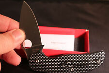 SPYDERCO Carbon FIBER SAGE Plain Edge Knife C123CFP NEW in BOX