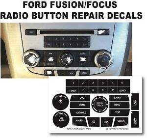 09-13 FORD FUSION FOCUS RADIO STEREO BUTTON REPAIR DECALS