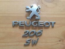 PEUGEOT 206 SW REAR BADGE LOGO EMBLEM 9645213180 (D14)