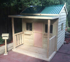 "THE ""EMERALD"" OUTDOOR WOODEN TIMBER KIDS CUBBY HOUSE AUSTRALIAN MADE & QUALITY"
