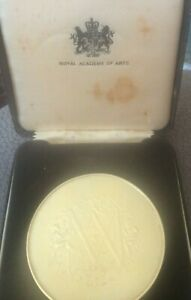 Rare Royal Accademy Of Arts Large Hallmarked Silver Medallion