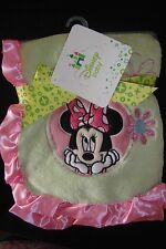 DISNEY MINNIE MOUSE   OH SO SOFTPLUSH BLANKET with satin trim  NWTS  GORGEOUS