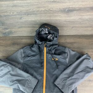 Mens Medium Oakley Regular Fit snowboarding gray Orange jacket MINT