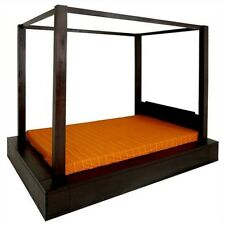 Amsterdam  solid Mahogany timber Queen size Poster Bed -  chocolate colour