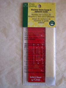 Machine Seam Gauge & Adhesive Guide Repositionable NEW