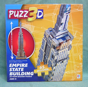 PUZZ 3 D - THE EMIRE STATE BUILDING- BEGINNER SKILL LEVEL 65 PIECES