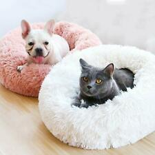 Pet Dog Cat Calming Bed Round Nest Warm Soft Plush Sleeping Bag Comfy Flufy Xmas