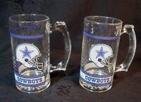 Vintage Dallas Cowboys Beer Glass Drinking Mug!  NFL Football