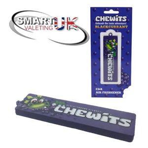 Chewits Sweets 3D Hanging Car Air Freshener Smart valeting UK - BLACKCURRENT