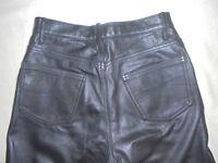 Herren Jungen Motorradhose Bikerhose Lederhose Leatherpants Gr 48 S